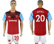 Wholesale Cheap West Ham United #20 Moses Home Soccer Club Jersey