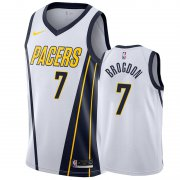 Wholesale Cheap Nike Pacers #7 Malcolm Brogdon White NBA Swingman Earned Jersey