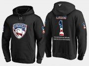 Wholesale Cheap Panthers #1 Roberto Luongo NHL Banner Wave Usa Flag Black Hoodie