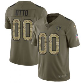 Wholesale Cheap Nike Raiders #00 Jim Otto Olive/Camo Men\'s Stitched NFL Limited 2017 Salute To Service Jersey