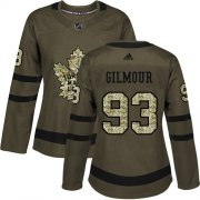 Wholesale Cheap Adidas Maple Leafs #93 Doug Gilmour Green Salute to Service Women's Stitched NHL Jersey