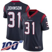 Wholesale Cheap Nike Texans #31 David Johnson Navy Blue Team Color Youth Stitched NFL 100th Season Vapor Untouchable Limited Jersey