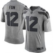 Wholesale Cheap Nike Seahawks #12 Fan Gray Men's Stitched NFL Limited Gridiron Gray Jersey