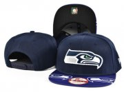 Wholesale Cheap Seahawks Team Logo Navy Adjustable Hat SF