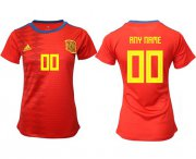 Wholesale Cheap Women's Spain Personalized Home Soccer Country Jersey