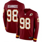 Wholesale Cheap Nike Redskins #98 Matt Ioannidis Burgundy Red Team Color Men's Stitched NFL Limited Therma Long Sleeve Jersey