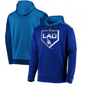 Wholesale Cheap Los Angeles Dodgers Majestic 2019 Postseason Dugout Authentic Pullover Hoodie Royal