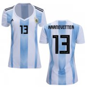 Wholesale Cheap Women's Argentina #13 Kranevitter Home Soccer Country Jersey