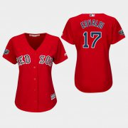 Wholesale Cheap Red Sox #17 Nathan Eovaldi Red Alternate 2018 World Series Women's Stitched MLB Jersey