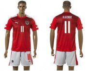 Wholesale Cheap Austria #11 Harnik Red Home Soccer Country Jersey