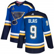 Wholesale Cheap Adidas Blues #9 Sammy Blais Blue Home Authentic 2019 Stanley Cup Champions Stitched NHL Jersey