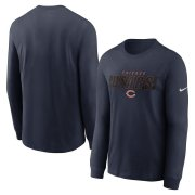 Wholesale Cheap Chicago Bears Nike Fan Gear Playbook Long Sleeve T-Shirt Navy