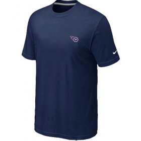 Wholesale Cheap Nike Tennessee Titans Chest Embroidered Logo T-Shirt Dark Blue