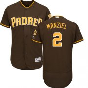Wholesale Cheap Padres #2 Johnny Manziel Brown Flexbase Authentic Collection Stitched MLB Jersey