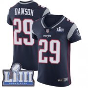 Wholesale Cheap Nike Patriots #29 Duke Dawson Navy Blue Team Color Super Bowl LIII Bound Men's Stitched NFL Vapor Untouchable Elite Jersey