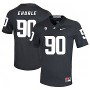 Wholesale Cheap Washington State Cougars 90 Daniel Ekuale Black College Football Jersey