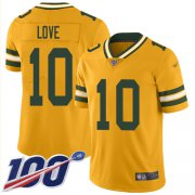 Wholesale Cheap Nike Packers #10 Jordan Love Gold Youth Stitched NFL Limited Inverted Legend 100th Season Jersey