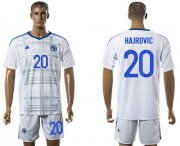 Wholesale Cheap Bosnia Herzegovina #20 Hajrovic Away Soccer Country Jersey