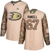 Wholesale Cheap Adidas Ducks #67 Rickard Rakell Camo Authentic 2017 Veterans Day Stitched NHL Jersey