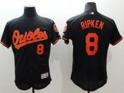 Wholesale Cheap Orioles #8 Cal Ripken Black Flexbase Authentic Collection Stitched MLB Jersey