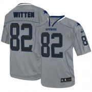 Wholesale Cheap Nike Cowboys #82 Jason Witten Lights Out Grey Men's Stitched NFL Elite Jersey