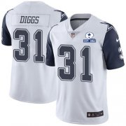 Wholesale Cheap Nike Cowboys #31 Trevon Diggs White Men's Stitched With Established In 1960 Patch NFL Limited Rush Jersey