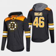 Wholesale Cheap Bruins #46 David Krejci Black 2018 Pullover Platinum Hoodie