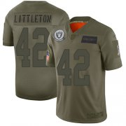 Wholesale Cheap Nike Raiders #42 Cory Littleton Camo Men's Stitched NFL Limited 2019 Salute To Service Jersey
