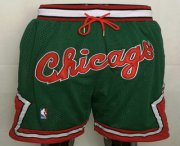 Wholesale Cheap Chicago Bulls Green With Chicago Swingman Throwback Shorts