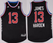 Wholesale Cheap 2015 NBA Western All-Stars #13 James Harden Revolution 30 Swingman Black Jersey