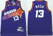 Wholesale Cheap Men's Phoenix Suns #13 Steve Nash Purple Hardwood Classics Soul Swingman Throwback Jersey