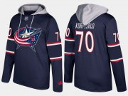Wholesale Cheap Blue Jackets #70 Joonas Korpisalo Navy Name And Number Hoodie