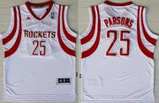 Wholesale Cheap Houston Rockets #25 Chandler Parsons Revolution 30 Swingman White Jersey
