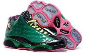 Wholesale Cheap Womens Air Jordan 13 doernbecher Green/black-pink