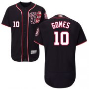 Wholesale Cheap Nationals #10 Yan Gomes Navy Blue Flexbase Authentic Collection Stitched MLB Jersey