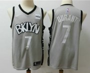 Wholesale Cheap Men's Brooklyn Nets #7 Kevin Durant Gray 2019 NEW Nike Swingman Stitched NBA Jersey With The Sponsor Logo