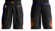 Wholesale Cheap Men's Phoenix Suns Nike Black Short