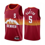 Wholesale Cheap Nike Nuggets #5 Will Barton Red NBA Swingman 2020-21 City Edition Jersey