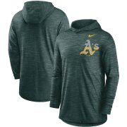 Wholesale Cheap Oakland Athletics Nike Split Logo Performance Long Sleeve Hoodie Top Green