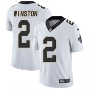 Wholesale Cheap Nike Saints #2 Jameis Winston White Youth Stitched NFL Vapor Untouchable Limited Jersey
