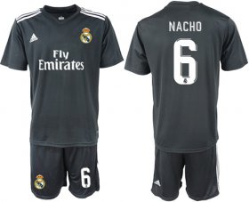 Wholesale Cheap Real Madrid #6 Nacho Away Soccer Club Jersey