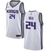 Wholesale Cheap Women's Sacramento Kings #24 Buddy Hield White Basketball Swingman Association Edition Jersey