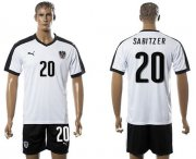Wholesale Cheap Austria #20 Sabitzer White Away Soccer Country Jersey