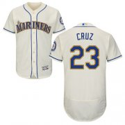 Wholesale Cheap Mariners #23 Nelson Cruz Cream Flexbase Authentic Collection Stitched MLB Jersey