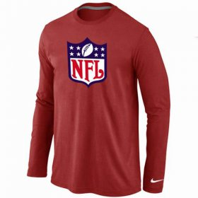Wholesale Cheap Nike NFL Logos Long Sleeve T-Shirt Red