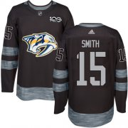 Wholesale Cheap Adidas Predators #15 Craig Smith Black 1917-2017 100th Anniversary Stitched NHL Jersey