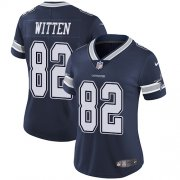Wholesale Cheap Nike Cowboys #82 Jason Witten Navy Blue Team Color Women's Stitched NFL Vapor Untouchable Limited Jersey