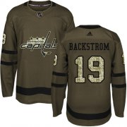 Wholesale Cheap Adidas Capitals #19 Nicklas Backstrom Green Salute to Service Stitched Youth NHL Jersey