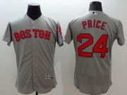 Wholesale Cheap Red Sox #24 David Price Grey Flexbase Authentic Collection Stitched MLB Jersey
