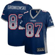 Wholesale Cheap Nike Patriots #87 Rob Gronkowski Navy Blue Team Color Women's Stitched NFL Elite Drift Fashion Jersey